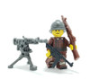 Custom Printed Minifigure Legs - Brown French WWI Legs