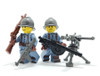 Custom Printed Minifigure Legs - Blue French WWI Legs