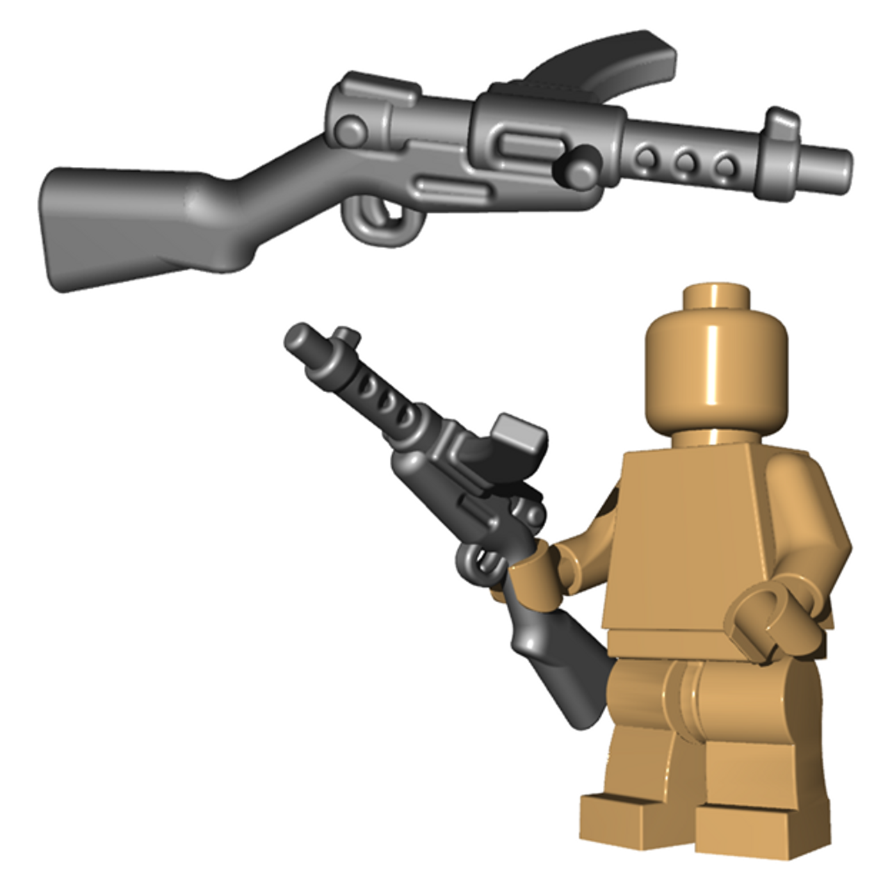 Japanese SMG Gun WWII for Lego Minifigures accessories