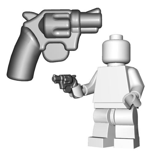 Minifigure Gun - Snub Nose Revolver