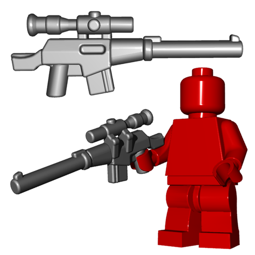 Minifigure Gun - Suppressed Sniper