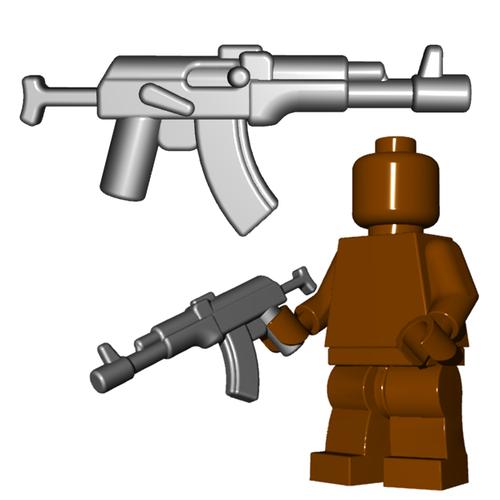 Minifigure Gun - Russian Assault Rifle