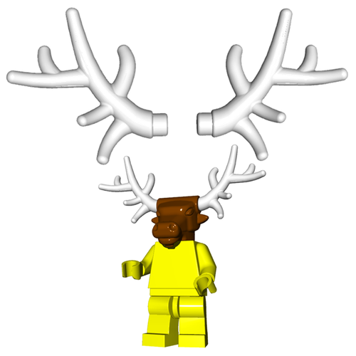 Minifigure Horns - Deer Antlers (Pair)