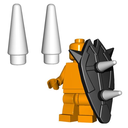 Minifigure Horns - Spikes (Pair)