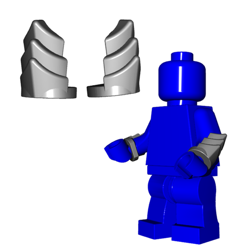 Minifigure Armor - Vambraces (Pair)