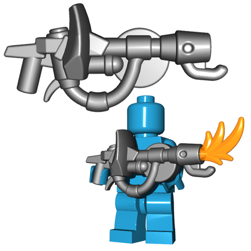 Minifigure Gun - Fire Breather