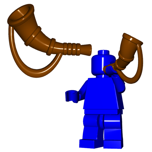 Minifigure Instrument - Battle Horn