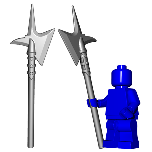 Minifigure Weapon - City Watch Halberd