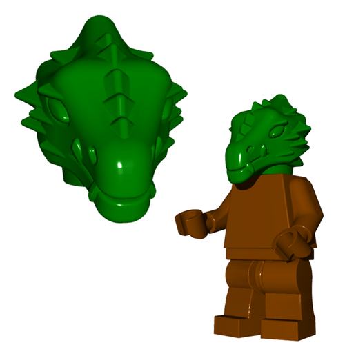 Minifigure Head - Dragonman Head