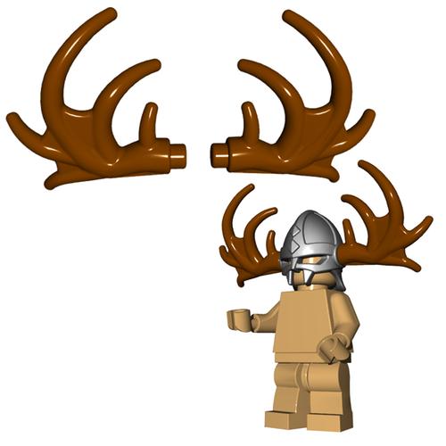 Minifigure Horns - Moose Antlers