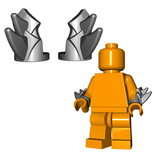 Minifigure Armor - Bladed Vambraces