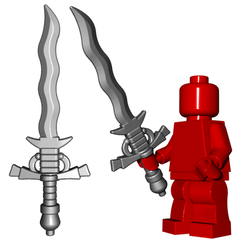 Minifigure Weapon - Flamberge