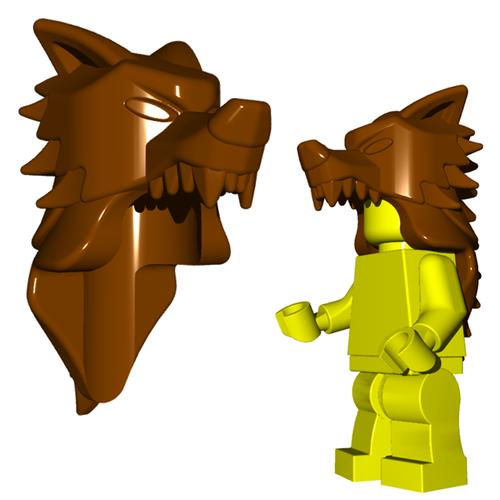 Minifigure Helmet - Wolf Pelt Helm