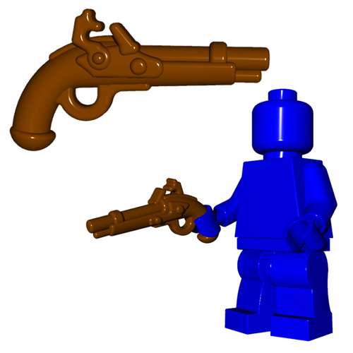 Minifigure Gun - Flintlock Pistol
