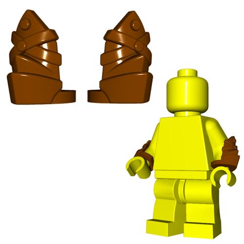 Minifigure Armor - Leather Vambraces (Pair)