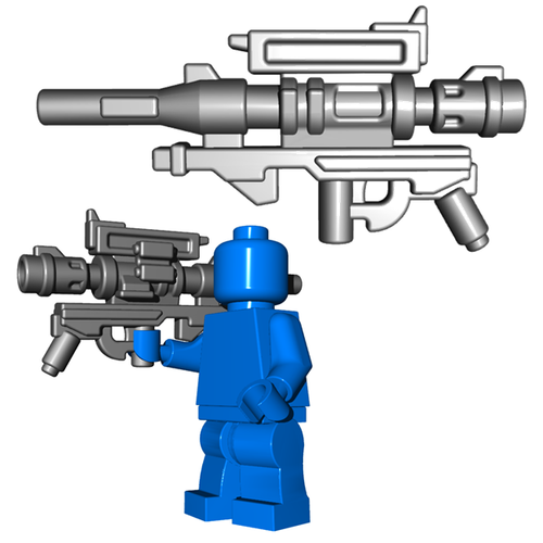 Minifigure Gun - Steel Destruction