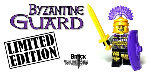 Custom LEGO® Minifigure - Byzantine Guard