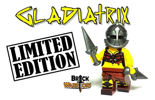 Custom LEGO® Minifigure - Gladiatrix