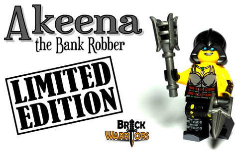 Custom LEGO® Minifigure - Akeena the Bank Robber