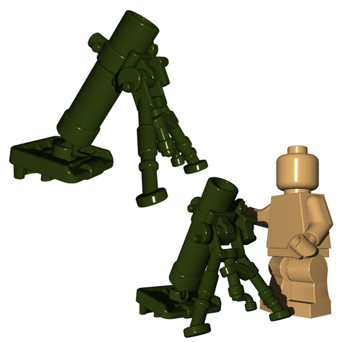 Custom Minifigure Explosives - Mortar Tube