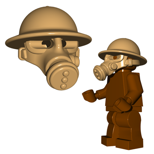 Minifigure Helmet - British Gas Mask