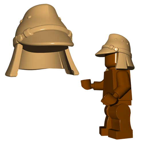 Custom Minifigure Helmet - Japanese Hat