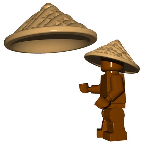 Custom Minifgure Helmet - Straw Hat
