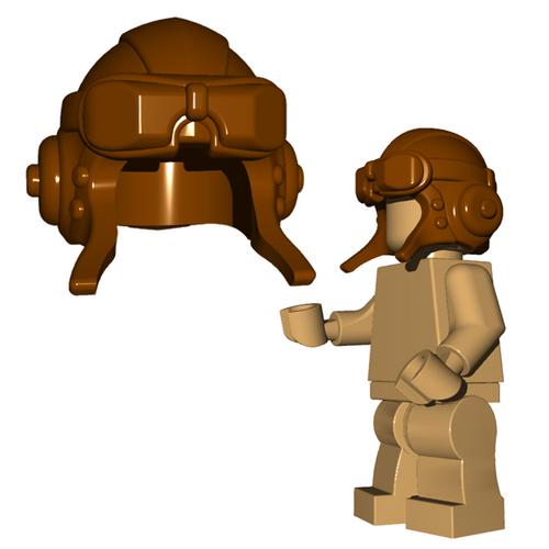 Custom Minifigure Helmet - Aviator Helmet