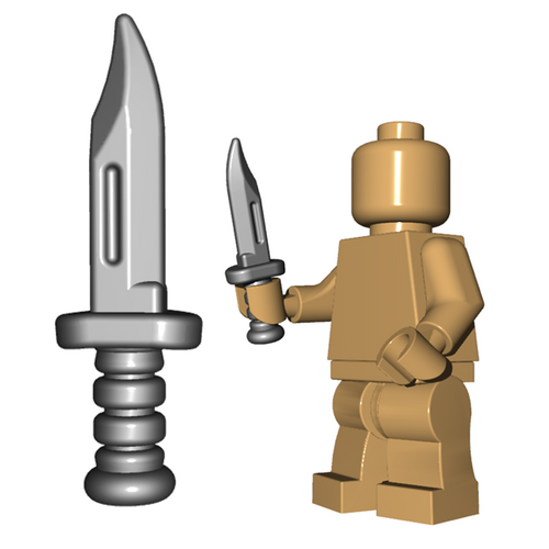Custom Minifigure Weapon - Military Knife