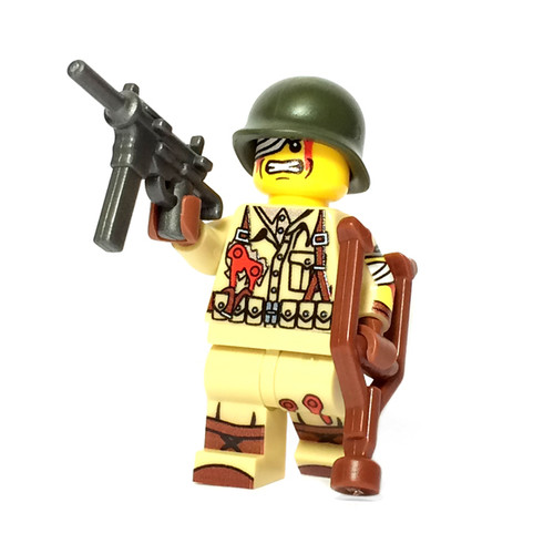 Custom LEGO® Minifigure - Injured US Soldier