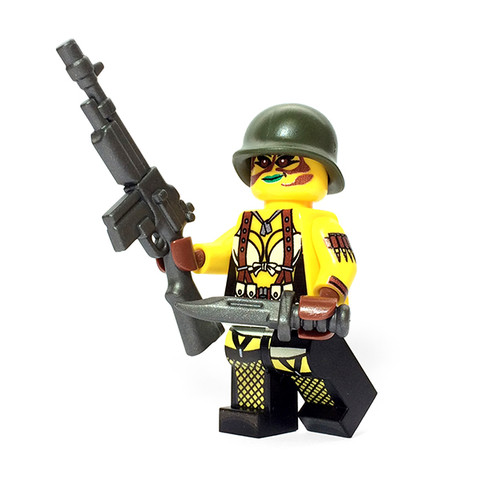 Custom LEGO® Minifigure - Female US SoldierSol