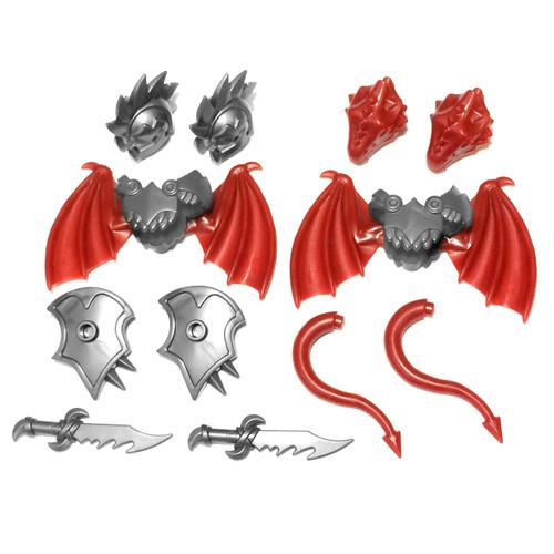 BrickWarriors Demon and Dragon Minifgure Accessories