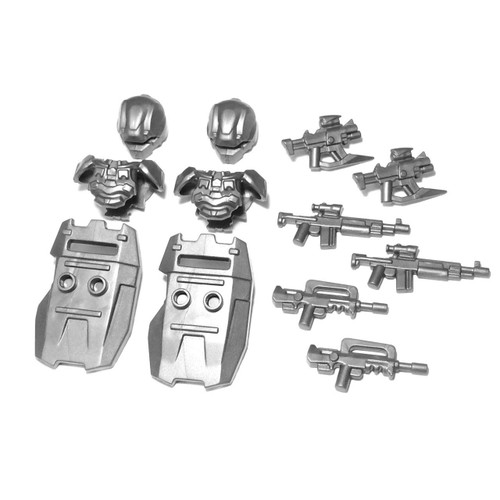 BrickWarriors Space Riot Police Minifigure Accessories