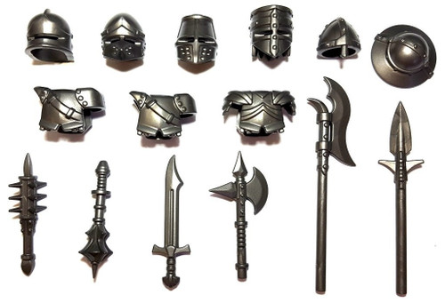 BrickWarriors Medieval Crusader Minifigure Accessories