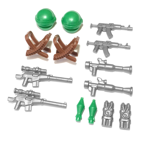 BrickWarriors Guerilla Fighter Minifigure Accessories