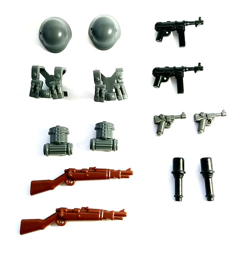 BrickWarriors WW2 German Infantry Minifigure Accessories