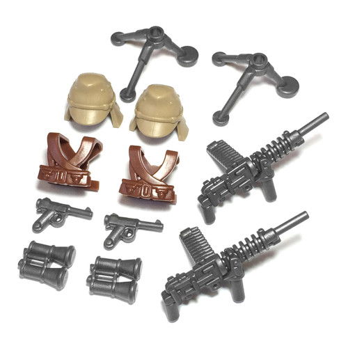 BrickWarriors WW2 Japanese Gunner Minifigure Accessories