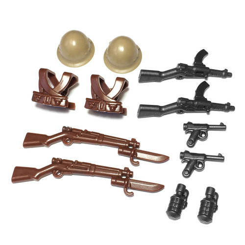 BrickWarriors WW2 Japanese Infantry Minifigure Accessories