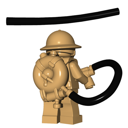 Minifigure Accessory - Flamethrower Tube