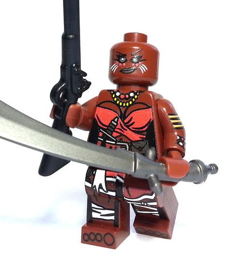 Custom LEGO® Minifigure - Fon Warrior