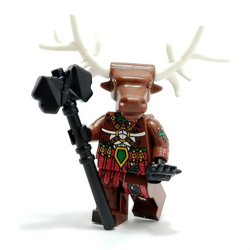 Custom LEGO® Minifigure - Raging Reindeer