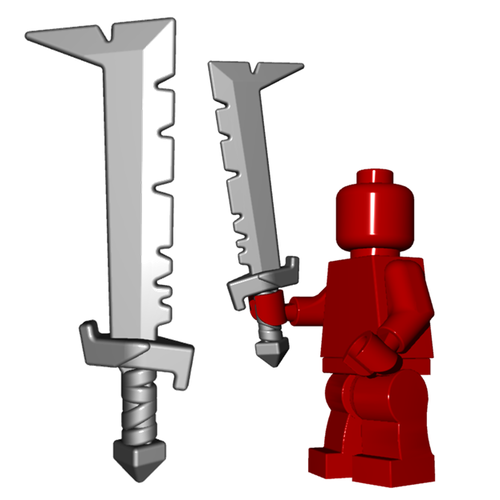 Minifigure Weapon - Orc Scimitar