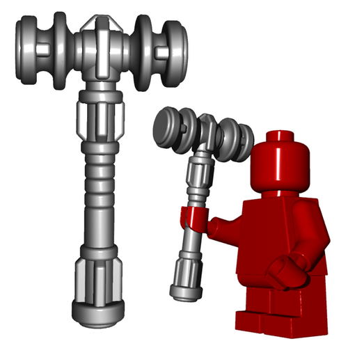Minifigure Weapon - Dwarf Hammer
