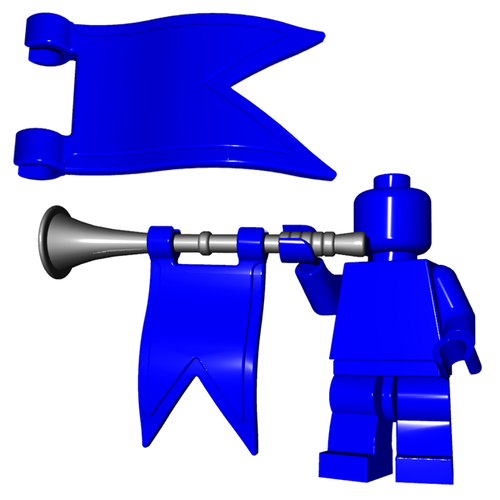 Custom LEGO® Accessory -  Trumpet Flag