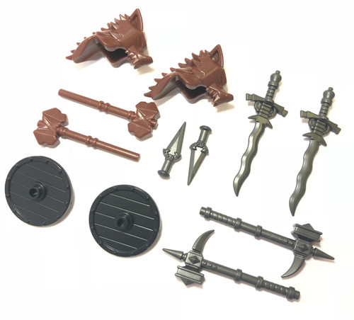 BrickWarriors Barbarian Warrior Minifigure Accessories