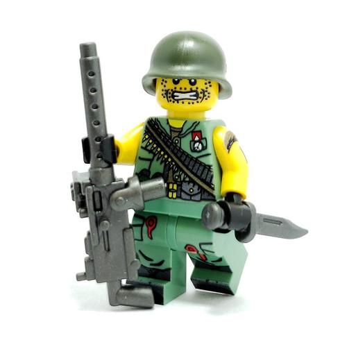 Custom LEGO® Minifigure - Vietnam US Gunner