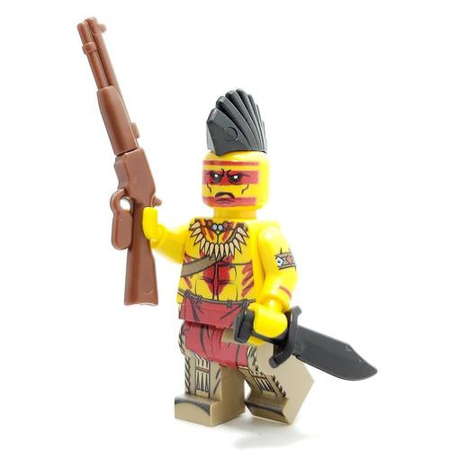 Custom LEGO® Minifigure - Pawnee Warrior