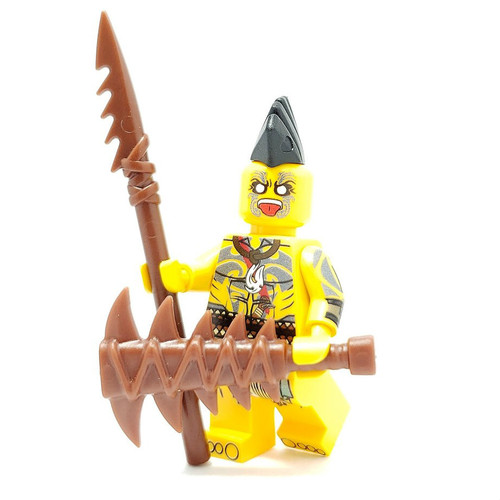 Custom LEGO® Minifigure - Maori Warrior
