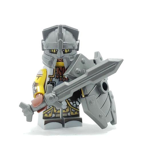 Custom LEGO® Minifigure - Dwarf Fighter