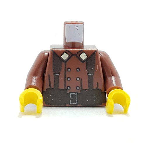 Custom Printed Minifigure Torso - French Infantry (Brown)